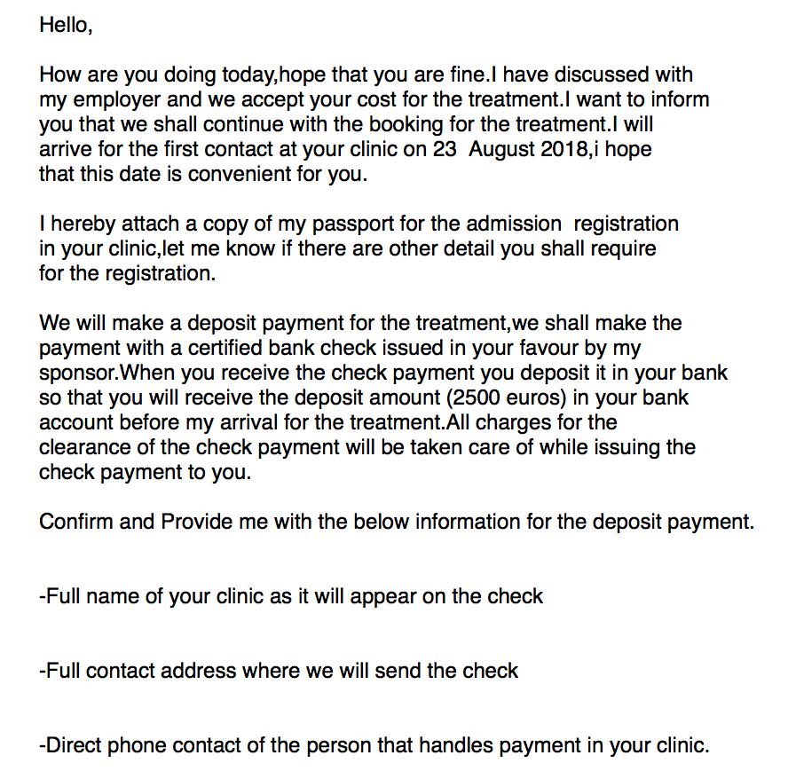 testo email
