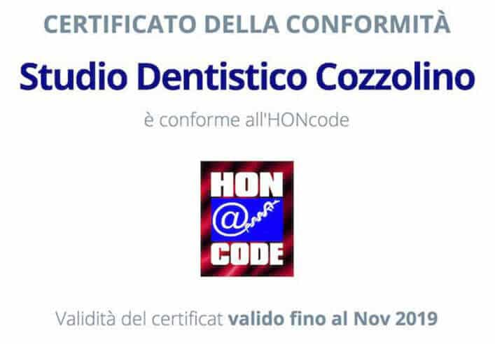 Certificazione HONcode