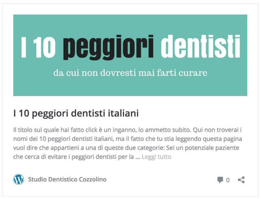dieci peggiori dentisti